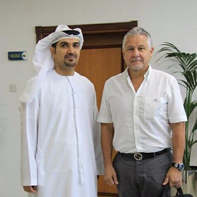 مدير عام هيئة المنطقة الحرة الفجيرة يستقبل السيد ميغيل كادينا
