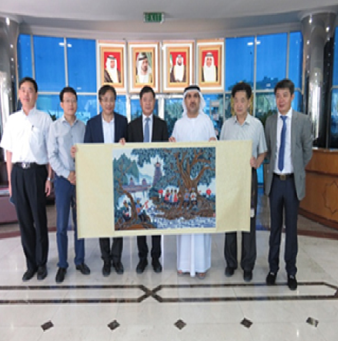 Director General of the Free Zone Authority receives a delegation from the Republic of China